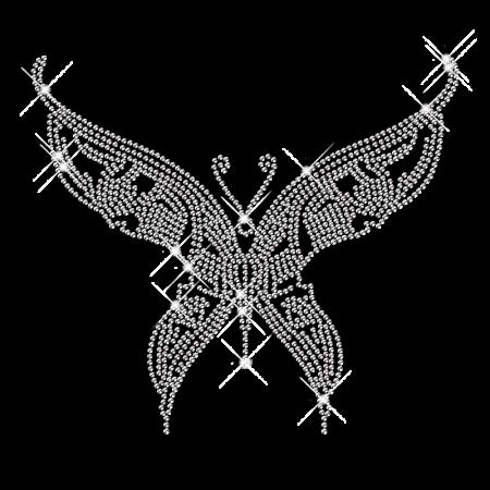 Rhinestone Iron ons Butterfly Motif