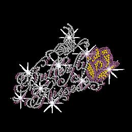 Imaginative Butterfly Motif Iron-on Rhinestone Transfer
