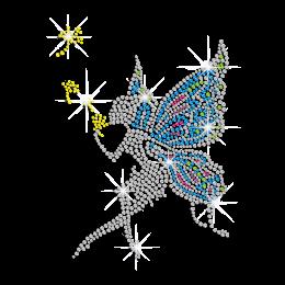 Little Butterfly Fairy Iron-on Rhinestone Transfer
