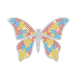 A Brightly-Coloured Butterfly Hotfix Bling Motif