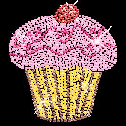 Hot-fix Cupcake with Berry Rhinestone Image