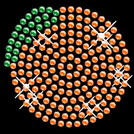 Iron on Orange Rhinestone Transfer Design