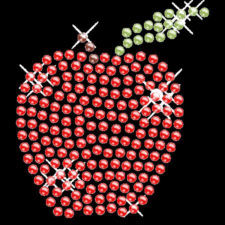 Bling Bling Apple Hot-fix Transfer Design for Kids