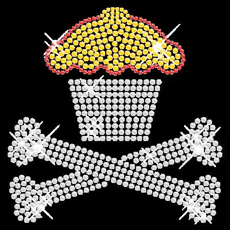 Rhinestone Cupcake and Skull Hotfix Design