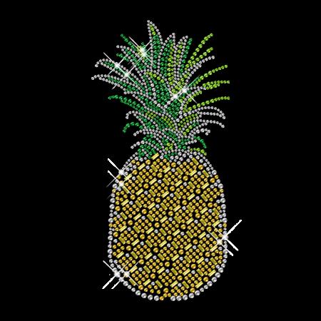 Shining Rhinestone Iron on Pineapple Transfer Motif for Clothes