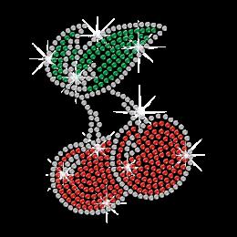 Cute Cherry Printable Heat Press Rhinestone Transfer Design