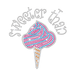 Sweeter Than Ice Cream New Design Hotfix Rhinestones Motif