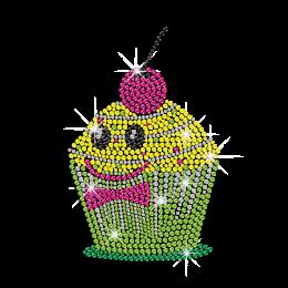 Smile Face Emoji Cake Hotfix Bling Rhinestone Transfer