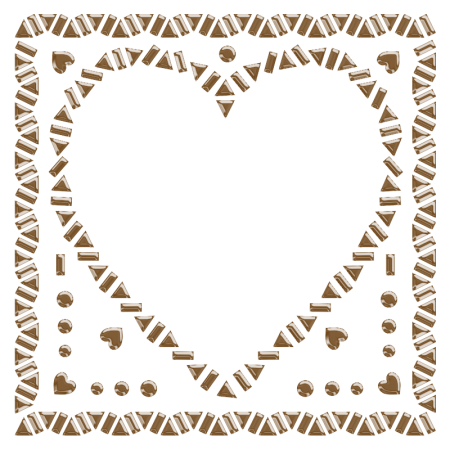 Antique Metal Heart Iron on Transfer