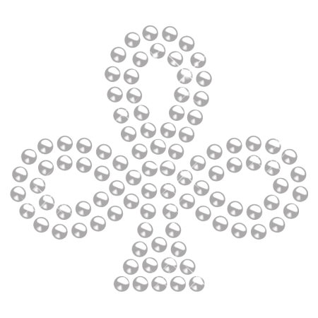 Crystal Casino Club Rhinestone Iron ons