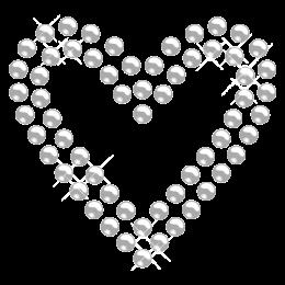 Crystal Casino Heart Rhinestone Iron ons