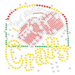 Colorful Casino Rhinestone Iron ons