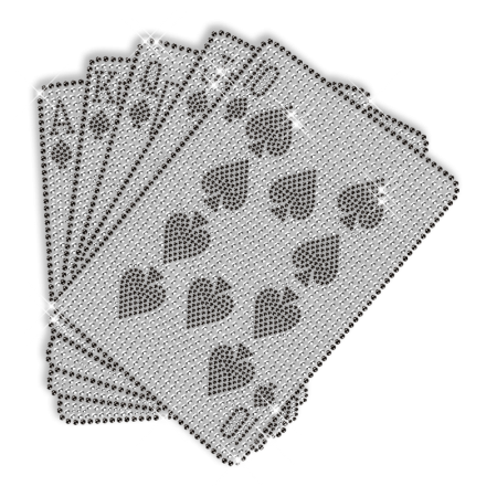 Playing Cards Rhinestone Iron on Design for T shirt