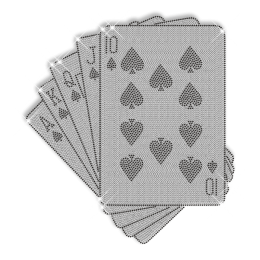Playing Cards Hot fix Studs Pattern Motif