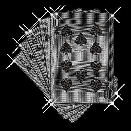 Playing Cards Hot fix Studs Pattern Motif