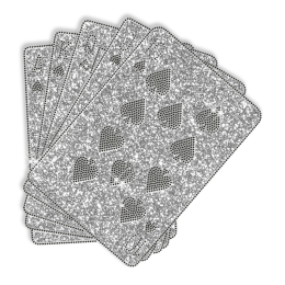 Glitter Iron on Playing Cards Transfer Design