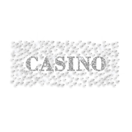 Casino Fun Time Iron-on Glitter Rhinestone Transfer Motif