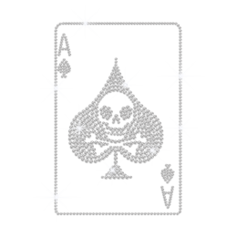Bling Ace of Spades Iron on Rhinestud Transfer Motif