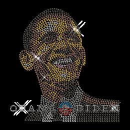 Custom Best Sparkling Obama Diamante Iron on Transfer Motif for Shirts
