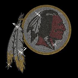 Shining Classic Indians Figure Rhinestone Iron on Transfer Design for Shirts