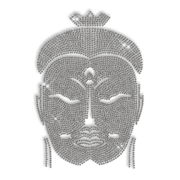 Shining Bodhisattva Face Rhinestone Iron on Transfer Design for Shirts