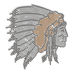 Shining Indians Rhinestone Iron on Transfer Design for Clothes