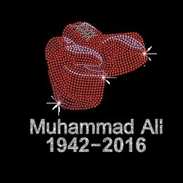 Muhammad ALI 1942-2016 Custom Heat Press Rhinestone Transfers Design