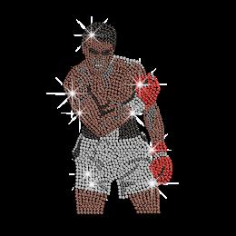 Boxing King Muhammad ALI Iron on Rhinestone Transfer