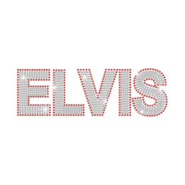Bling Elvis Iron on Rhinestone Transfer Motif