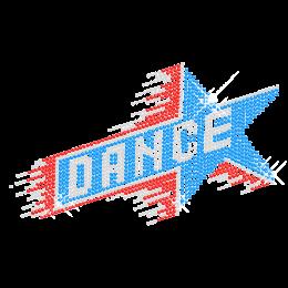 Iron on Dance Rhinestone Diamante Transfer Design