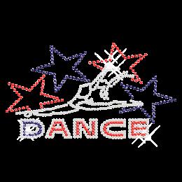 Rhinestone Hotfix Gymnast Dance Transfer for t shirt