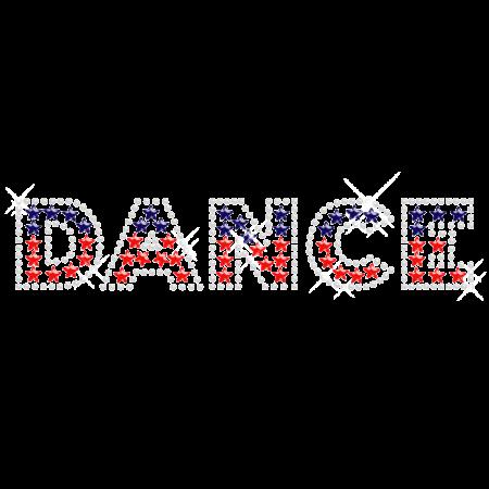 Crystal Iron on Bling Dance Transfer Desgin