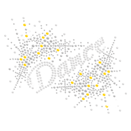 Classic Iron on Dance Rhinestone Transfer Design