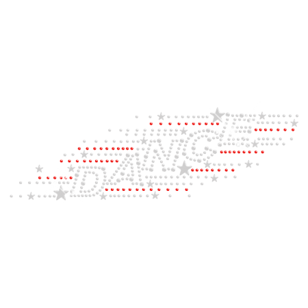 Twinkling Iron on Rhinestone Dance Transfer for Clothing