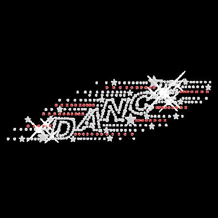 Twinkling Iron on Rhinestone Dance Transfer for Clothing