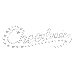 Crystal Cheer with Bling Stars Hot fix Motif for Clothing