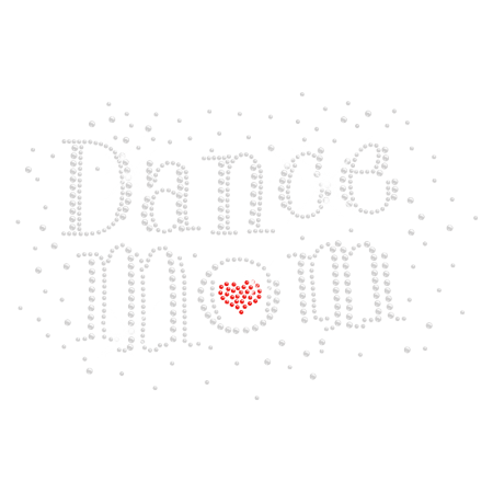 Shining Strass Hotfix Dance Mom Rhinestone Motif