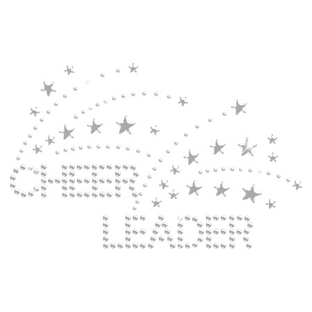 Shining Iron on Cheer Leader Rhinestone Bling Transfer