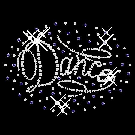 Shining Elegant Hotfix Dance Rhinestone Motif