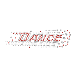 Hotfix Stone Red Dance with Bling Stars Pattern Transfer