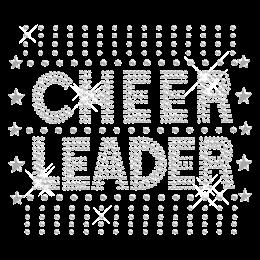 Magnificent Cheer Leader Hot fix Bling Motif