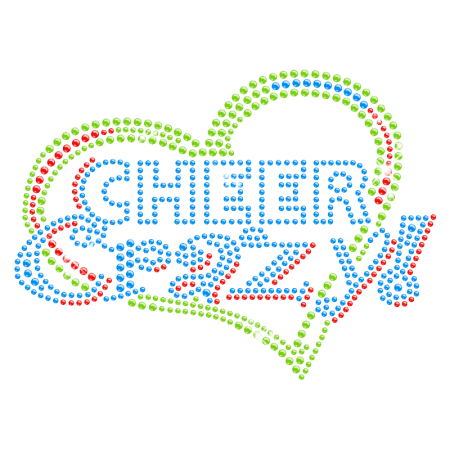 Bling Bling Iron on Stone Cheer Crazy Motif for t shirt