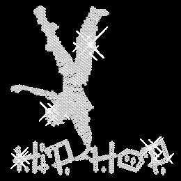 Iron on Crystal Hip Pop Dancer Rhinestone Motif
