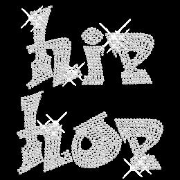Crystal Bling Hotfix Hip Pop Strass Motif Design