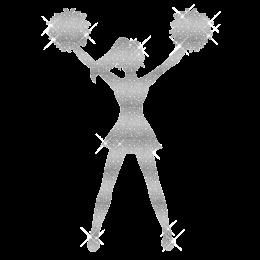 Shining Cheerleader Iron On Holofoil Transfer
