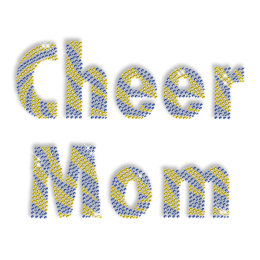 Rhinestone Design Cheer Mom Lettering Iron ons