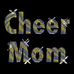 Rhinestone Design Cheer Mom Lettering Iron ons