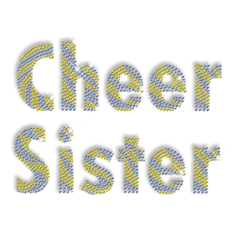 Cheer Sister Iron on Stone Transfer Pattern