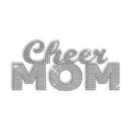 Custom Best Shinning Crystal Cheer Mom Diamante Iron on Transfer Design for Shirts