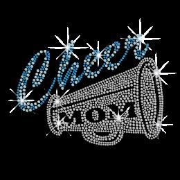 Artistic Cheer Mom Hotfix Rhinestone Transfer for Clothing